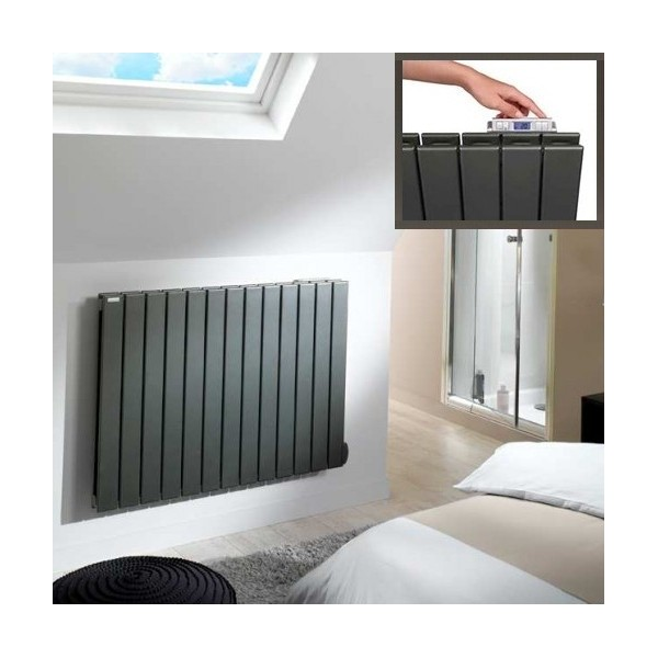 radiateur mobile inertie radiateur inertie mobile 1600w smart optimus ardoise noire radiateur. Black Bedroom Furniture Sets. Home Design Ideas